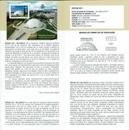 Exposition Philatélique EXFILNA - VALLADOLID - DOCUMENT INSTRUCTIF DE L´ÉMISSION DE TIMBRE ESPAGNE - España
