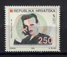 Croatia 1993 Croacia / N. Tesla MNH / Jl15  31 - Celebridades