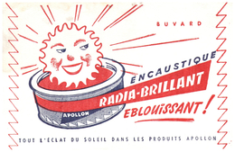 E R/Buvard   Encaustique Radia Brillant  (N= 1) - Buvards, Protège-cahiers Illustrés