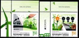 """BOSNIA/Bosnien Serbische Rep. SRPSKA  EUROPA 2016 """"Think Green"""" Set Of 2v** - Europa-CEPT"""