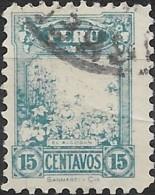 PERU 1931 Cotton Plantation - 15c. - Blue  FU - Peru