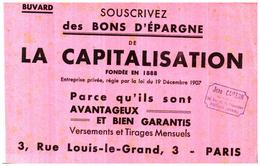 Buvard   Epargne La Capitalisation - Blotters