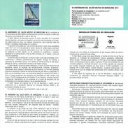 ANNIVERSAIRE DU SALON NAUTIQUE DE BARCELONE - BATEAU - DOCUMENT INSTRUCTIF DE L´ÉMISSION DE TIMBRE ESPAGNE - España