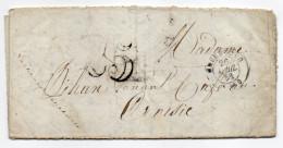 1852--lettre De CHERBOURG-50  Pour  LE CROISIC-44--cachet 26 Avril 1852--Nombre 25 - 1849-1876: Klassik