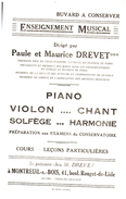 Buvard   Enseignement Musical - Blotters