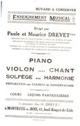 E M/Buvard   Enseignement Musical (N= 1) - Buvards, Protège-cahiers Illustrés