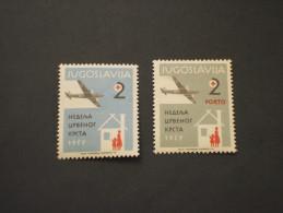 YUGOSLAVIA - BENEFICENZA - 1957 CROCE ROSSA/AEREO 2 VALORI - NUOVI(+) - Bienfaisance