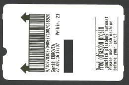 Slovakia, Bratislava, Parking Ticket For Eurovea Mall - Tickets - Vouchers