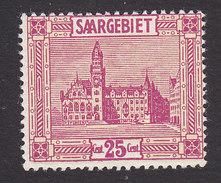 Saar, Scott #107, Mint Hinged, Saarbrucken City Hall, Issued 1922 - Unused Stamps