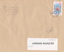 Lettre Voyagée De Cherbourg Pour La Suisse Le 09/02/1995 Tp 50e Anniversaire De La Grande Loge Féminine De France, Emblè - France