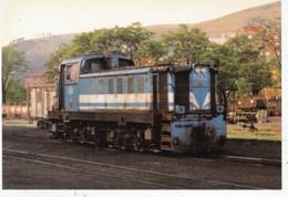 CPM ESPAGNE Locomotora Diesel Hidrolica,  Explications Au Dos De La Carte - Trenes