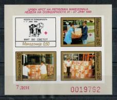 MACEDONIA   1993    RED CROIX    1 BLOCK  2 SHEETS     (2SCAN)   MNH ** - Macedonia