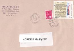 Lettre Voyagée De Cherbourg Pour La Suisse Le 21/05/1998 Tp Type Marianne De Béquet. 1re Série; Bicentenaire De La Décla - France