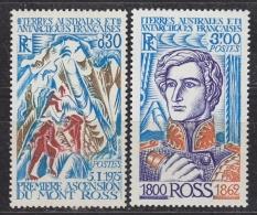 TAAF 1976 Mt. Ross 2v ** Mnh (33274) - Franse Zuidelijke En Antarctische Gebieden (TAAF)