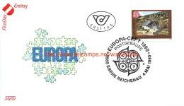 Europa CEPT 1990 Ebene Reichenau - FDC