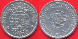 Mozambique 10 Escudos 1952 VF+ Ag Silver - Mozambique