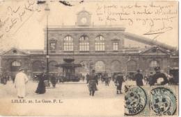 CPA 59 - Lille - La Gare F L - Lille