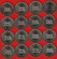 "Turkey Set Of 16 Coins: 1 Kurus 2015 ""The Great Turkish Nations"" UNC - Turquie"