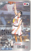 """PHILIPPINES(chip) - Basketball/PBA, """"Dunkin"""" Danny Ildefonso, Chip GEM3.3, Exp.date 31/12/03, Used - Philippines"""