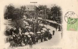 TONKIN - Haï-Phong- Inauguration Du Monument De Jules Ferry - Aspect Des Rues Pendant La Cérémonie - Viêt-Nam