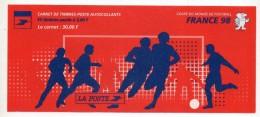 Timbres - Carnet Foot France 98 - N° 3140 - Valeur 30.00 Fr (4.57 € ) Non Plié - Markenheftchen