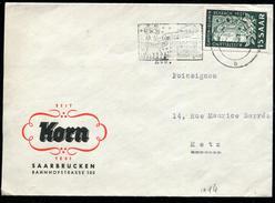 SARRE - N° 294 / LETTRE DE SAARBRUCKEN LE 16/12/1951 POUR METZ - TB - Lettres & Documents