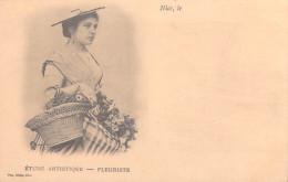 [06] Alpes Maritimes > NICE Etude Artistisue FLEURISTE (FLEURS Costume)  ( Cpa DOS SIMPLE  ) *PRIX FIXE - Nice