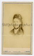 CDV J. Maes Photographie, Anvers. Portrait D'une élégante. - Photos