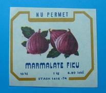 ALBANIA ETIQUETE FIG MARMELADE 1 KG 1960-70, N.U. PERMET. - Obst Und Gemüse