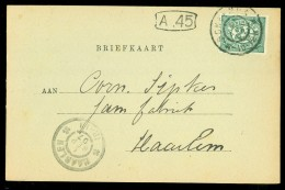 HANDGESCHREVEN BRIEFKAART Uit 1907 Gelopen Van HAARLEM Naar SCHEEMDA (10.519g) - Periode 1891-1948 (Wilhelmina)