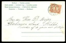 HANDGESCHREVEN BRIEFKAART Uit 1903 Gelopen Van ROTTERDAM Naar HERKINGEN (10.519i) - Periode 1891-1948 (Wilhelmina)