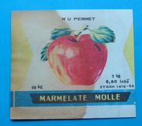 ALBANIA ETIQUETE MARMELADE DE POMME 1 KG 1960-70, N.U. PERMET. - Obst Und Gemüse
