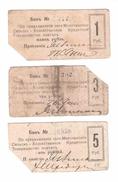 Ukraine / Molochansk 1 + 3 + 5 Rubles - Ukraine