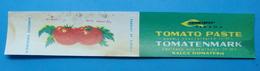 ALBANIA ETIQUETE TOMATENMARK - PATE DE TOMATE 200 GR 1960-70, AGROEXPORT TIRANA. - Obst Und Gemüse