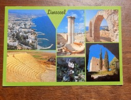Carte Postale Ancienne : CYPRUS : LIMASSOL, 2 Stamps - Chypre