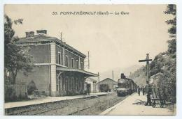 Gard.Pont D'Hérault.La Gare Et Le Train - Frankrijk