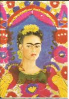Art, Peinture, Auto Portrait Frida Kahlo - Selbstbildnis The Frame 1938 - Plumes, Oiseaux, Femme, Cheveux Bruns - Paintings