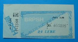 ALBANIA 2.4 LEKE QUOTISATION TICKET ND 1980. - Albania