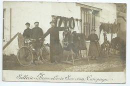 Gironde. Campugnan, Carte Photo De La Sellerie Bourrellerie Sauzeau - Arcachon
