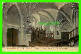LEWISTON, ME - SOUBASSEMENT DE L'ÉGLISE ST-PIERRE, ST PAUL - VUE DE LA NEF GAUCHE - - Lewiston