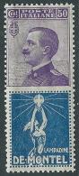 1924-25 REGNO PUBBLICITARIO 50 CENT DE MONTEL MNH ** - CZ35-10 - Publicity