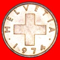 § OAT SPRIG: SWITZERLAND ★ 2 RAPPEN 1974 MINT LUSTER! LOW START★ NO RESERVE! - Svizzera