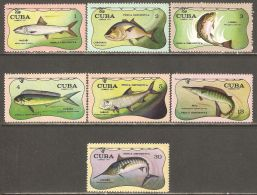 1971 Mi# 1721-1727 ** MNH - Sport Fishing / Fish - Cuba