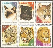 1977 Mi# 2257-2262 ** MNH - Felines - Felinos