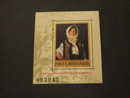 ROMANIA - BF 1982 QUADRO DONNA - NUOVO(++) - Blocs-feuillets