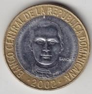 @Y@   Dominicaanse Republiek  5 Pesos  2002          (3431) - Dominicaanse Republiek