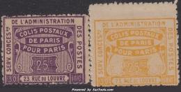 Colis Postaux  Dallay N° 49 Neuf ** Et 50 Neuf *  TB (cote +30€ ) - Parcel Post