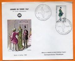 MAURY N° 1516    JOURNEE DU TIMBRE 1967  25 SOCHAUX   Lettre Entière N° BB 718 - Marcophilie (Lettres)