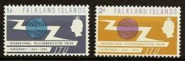 FALKLAND ISLANDS 1965 - Centennial ITU  /UIT Telecommunication - 2v Mi 149-50 MNH ** Cv€12,00 H056 - Falkland Islands