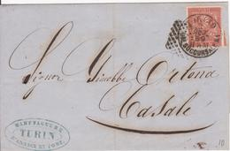 Torino. 1969. Annullo Numerale Piccolo Cerchio A Punti, TORINO SUCCURSALE N.1 + Testo - 1861-78 Victor Emmanuel II